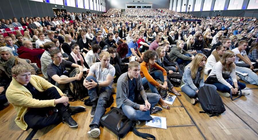 ARKIVFOTO fra Studiestart på Aalborg Universitet 2011.