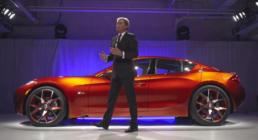 Henrik Fisker foran Atlantic til International Auto Show in New York.