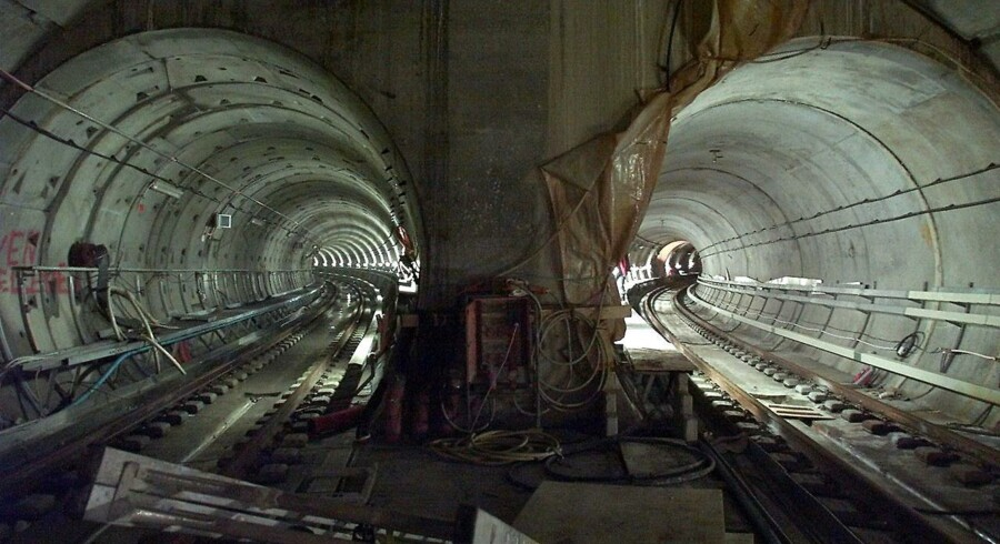 Metrobyggeri under Christianshavns Torv.