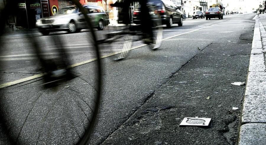 Det kan føre til hasaderede overhalinger på cykelstien, når store ladcykler fylder det meste. - Arkivfoto.