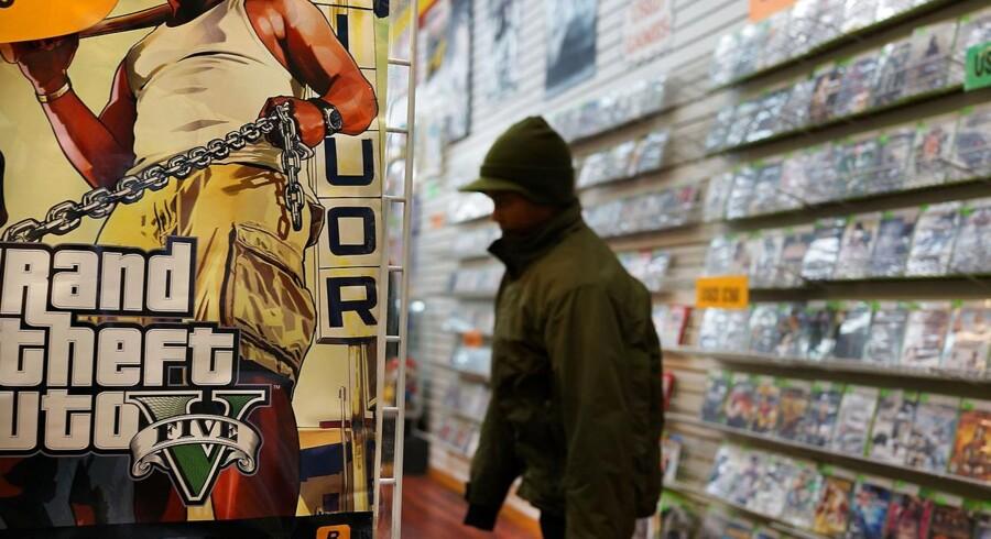 Det nye spil Grand Theft Auto V er verdens dyreste spil og forventes at blive et af de bedst sælgende spil nogensinde. Foto: Scanpix