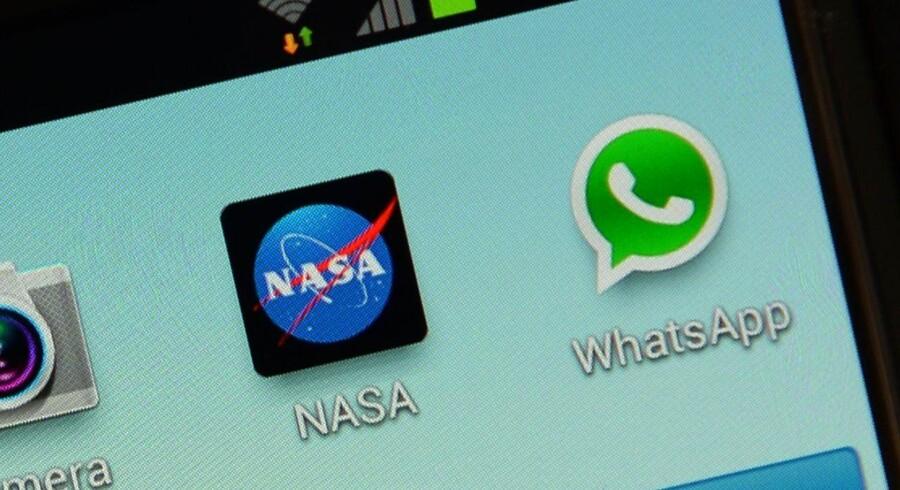 Den populære beskedtjeneste Whatsapp fortsætter med at høste brugere.