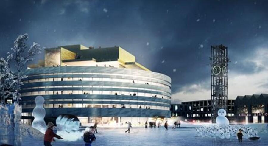 Nyt rådhus i Kiruna er tegnet af dansk tegnestue