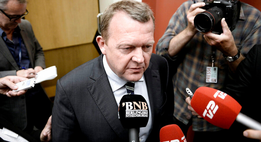 RB-PLUS- - ARKIVFOTO 2014 af Lars Løkke Rasmussen- - Se RB 2/6 2014 09.41. Mens Lars Løkke kæmper for sit politiske liv, siger hans tilhængere, at et flertal på 51 procent i hovedbestyrelsen er nok til, at han kan blive som V-formand. (Foto: Keld Navntoft/Scanpix 2014)