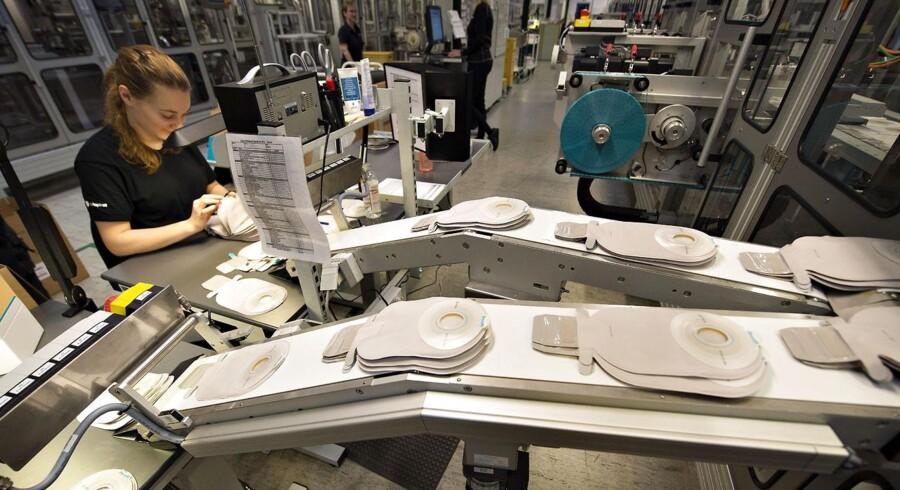 Coloplast ansætter i stomi og kontinensafdelingen i London. Her ses Coloplasts stomifabrik i Thisted