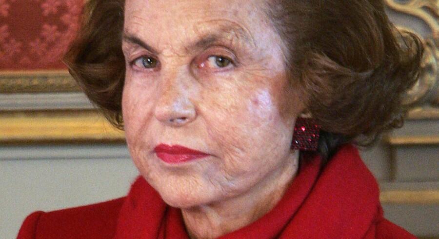 Frankrigs rigeste kvinde, Liliane Bettencourt.