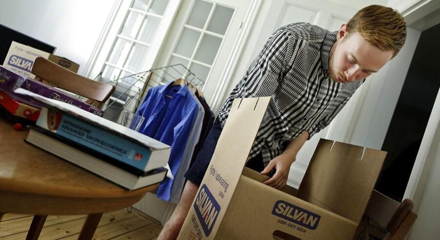 Danske unge er i gennemsnit 21 år, når de flytter hjemmefra. Arkivfoto: Andreas Beck