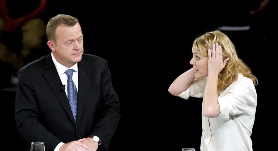 ARKIVFOTO 2011. Selv Enhedslistens Johanne Schmidt-Nielsen (Ø) bedømmes blandt Venstre-vælgerne til at være en bedre partileder end deres egen. Hun får en gennemsnitskarakter på 5,6 hos Venstre-vælgerne sammenlignet med Løkkes 5,0.