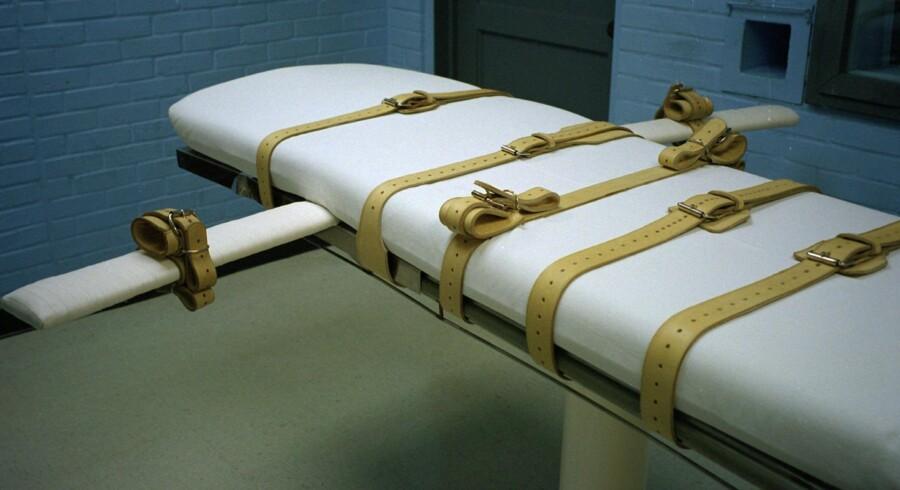 Sidste år blev 17 personer henrettet i Texas. I statsfængslet i Huntsville bliver de dødsdømte spændt fast, når alle appelmuligheder er brugt op. Derefter injiceres den dødbringende gift. Arkivfoto