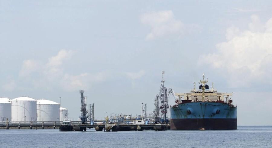 De store fald i olieprisen vil ramme A.P. Møller-Mærsk-koncernen i år og udløser en lavere forventning. ARKIVFOTO