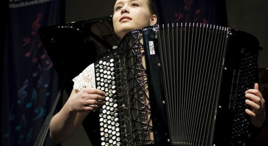 Berlingskes Klassiske Musikkonkurrence. Pernille Toftegaard Olsen på accordeon var en af guldmedaljevinderne i 2013.