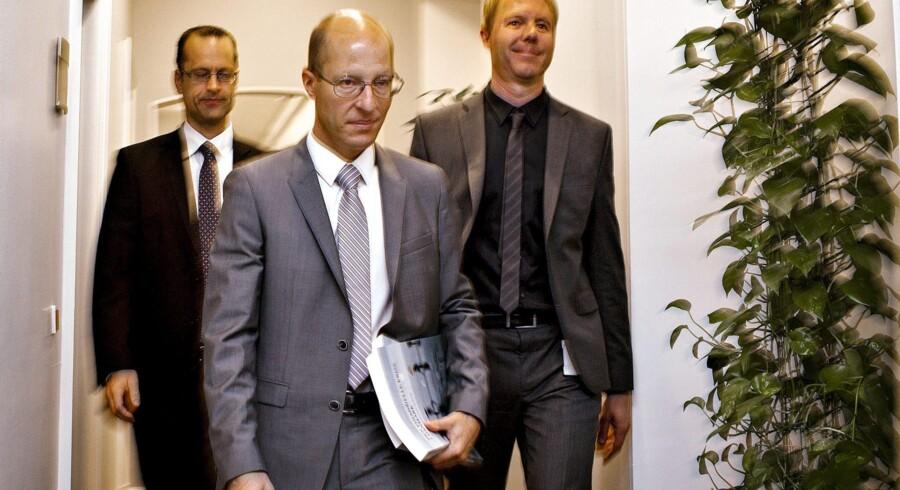 Professor ved CBS Jesper Rangvid præsenterede rapporten om årsagerne til finanskrisen ved et pressemøde i sensommeren. Arkivfoto: Nils Meilvang