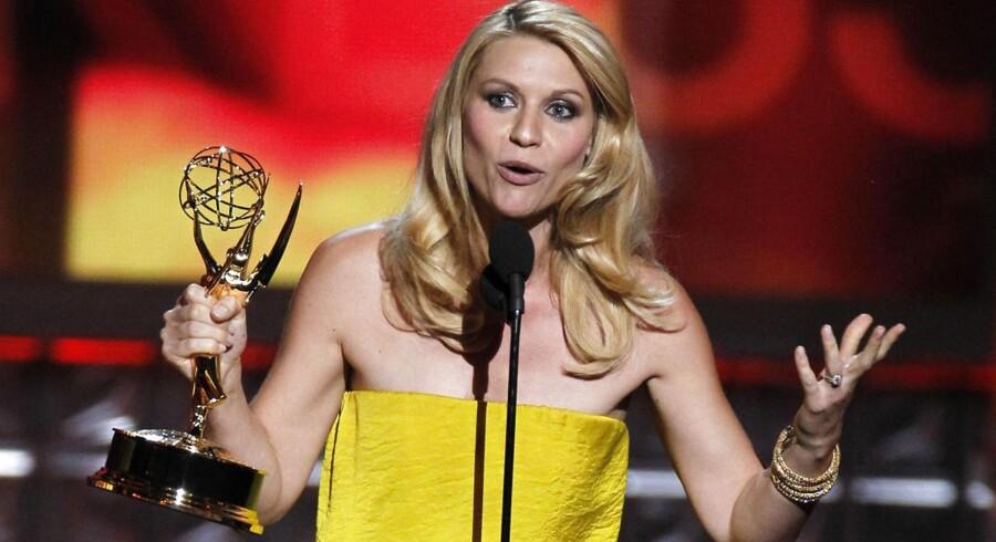 """Claire Danes vandt prisen for bedste kvindelige hovedrolleindehaver for sin rolle i serien """"Homeland"""", der også tog prisen for bedste dramaserie."""