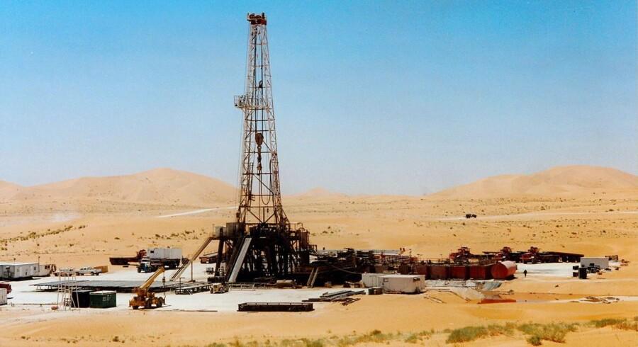 Mærsk oliefelt i Algeriets ørken.