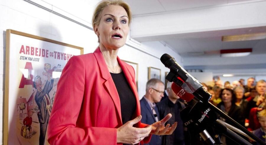 Statsminister Helle Thorning Schmidt taler ved 1.maj hos 3F i Holstebro.