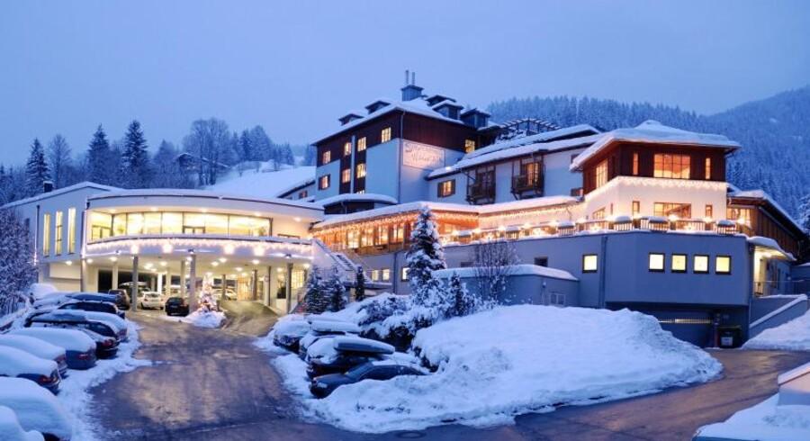 Sportshotel Wagrain er nummer to på Sunweb-listen over de bedste hoteller. Nummer et er Recidence i Saalbach, men det er egentlig er et lejlighedskompleks.