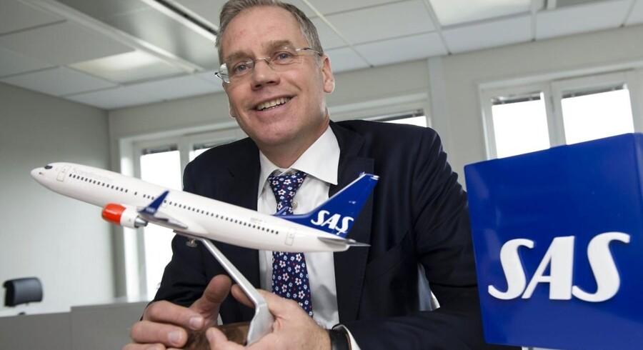 Adm. direktør i SAS, Rickard Gustafson, mener, at især SAS' tag i de forretningsrejsende er med til at skabe fremgang i luftfartselskabet.