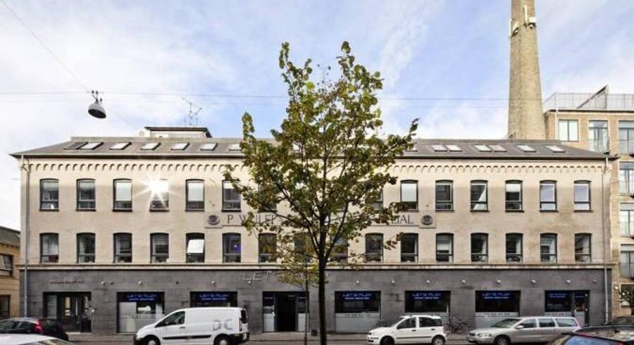 En tidligere fabriksbygning på Nordre Fasanvej på Frederiksberg er blandt de ejendomme, Niam netop har købt af Finansiel Stabilitet.
