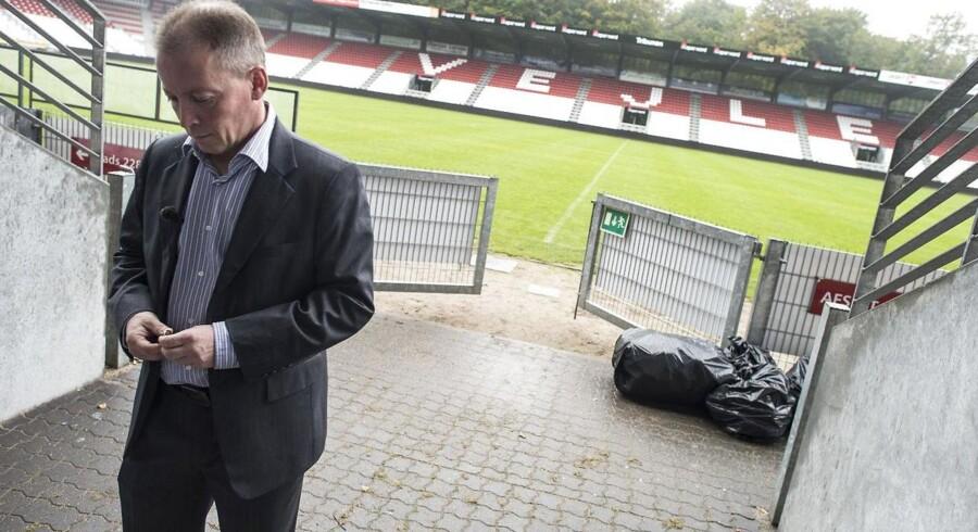 Per Olesen kom til stillingen som adm. direktør hos Vejle fra et direktør-job hos Sydbank. Nu fratræder efter mindre end ni måneder i fodboldklubben.