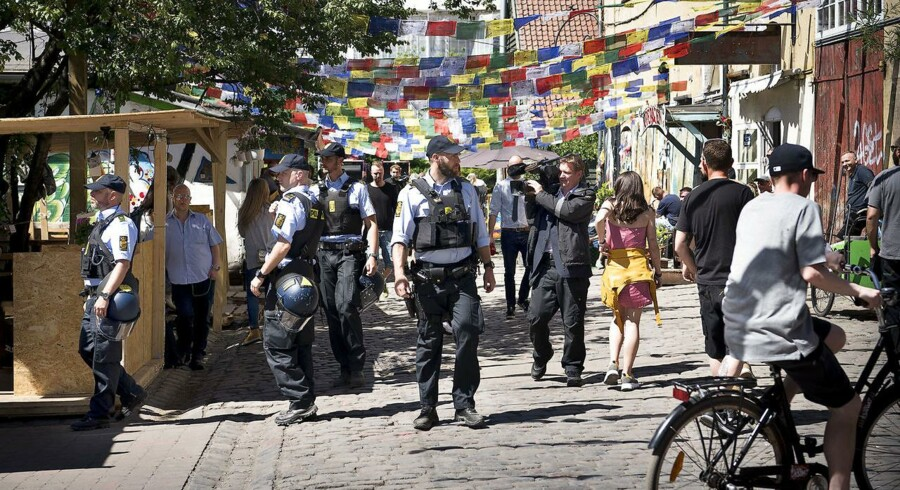 ARKIV: På Christiania genåbnede Pusher Street efter have været lukket i tre dage. Fredag 25. Maj 2018. (Foto: Nils Meilvang/Ritzau Scanpix)