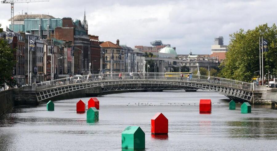 Floden River Liffey i Dublin.