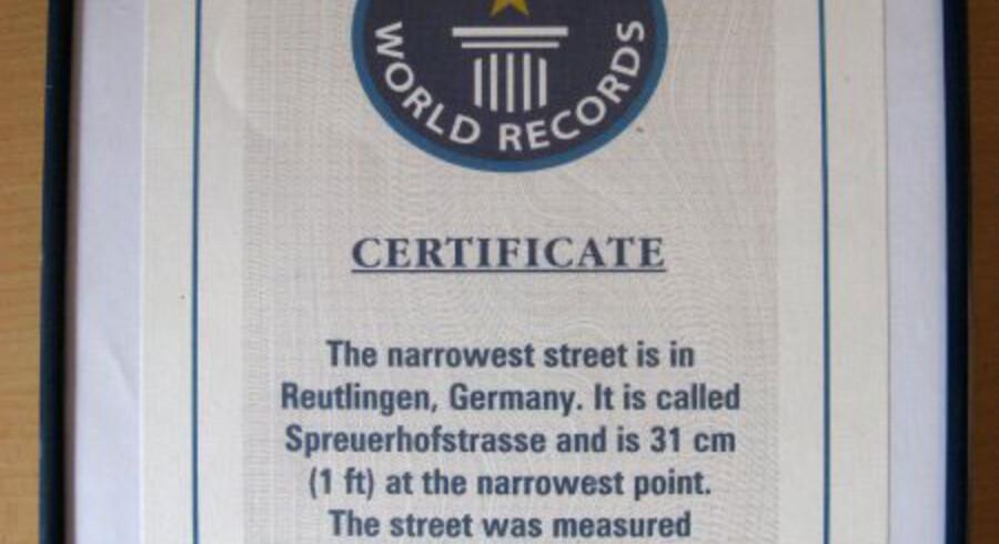 Spreuerhofstrasse er kun 31 cm bred på det smalleste sted.