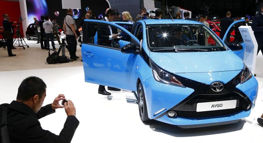 Danske bilejere er fortsat vilde med miljøvenlige biler som Toyotas Aygo-model.