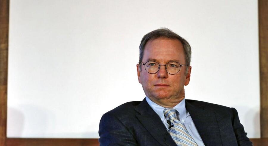 Google-bestyrelsesformand Eric Schmidt får klækkelig lønforhøjelse. Arkivfoto: Adnan Abidi, Reuters/Scanpix