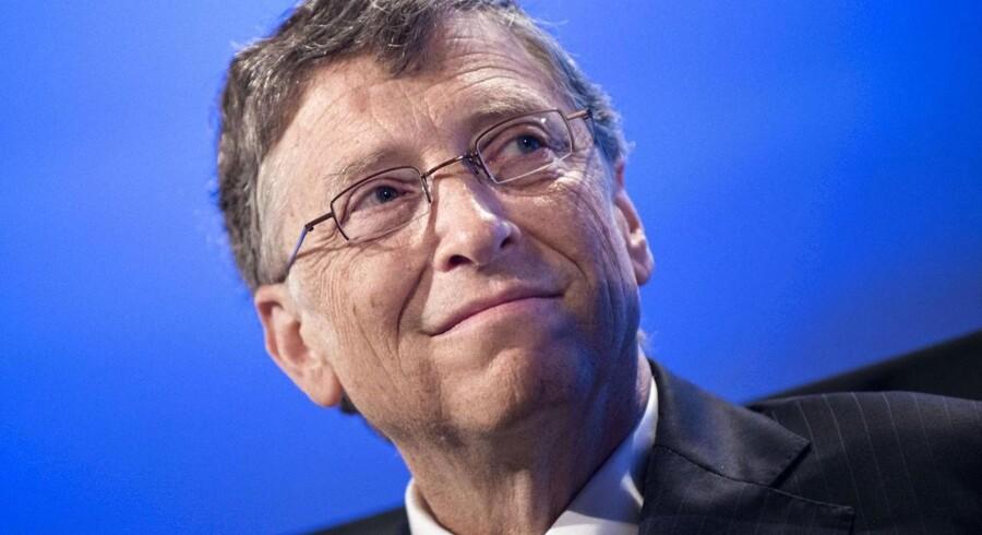 Bill Gates' formue voksede i fjor med anslået 16 procent, og det gør ham igen til verdens rigeste person. Gates giver store summer til forskning, velgørenhed og udvikling af fattige lande.