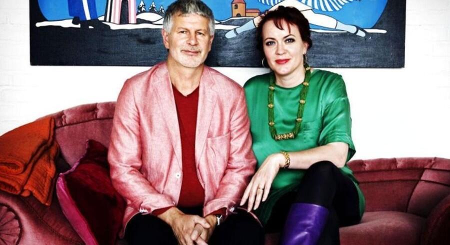 Bengt Sundström, grundlægger og nu bestyrelsesformand i Lauritz.com, sammen med ægtefællen, Mette Rode Sundström, der er direktør i selskabet.