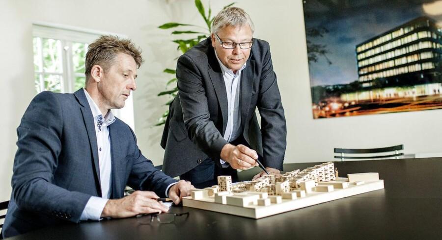 De to ledere af Sophienberg, som udvikler forskellige byggeprojekter, Lars Bigom og Niels Krag.