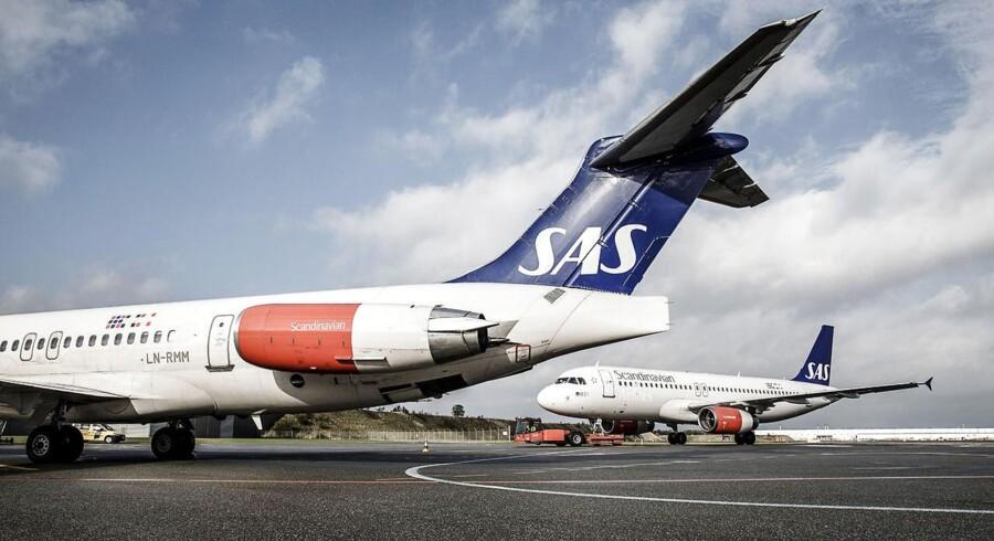Den sidste tur med det legendariske fly MD80 - og det nyere Airbus A320, som overtager mange af flyvningerne.