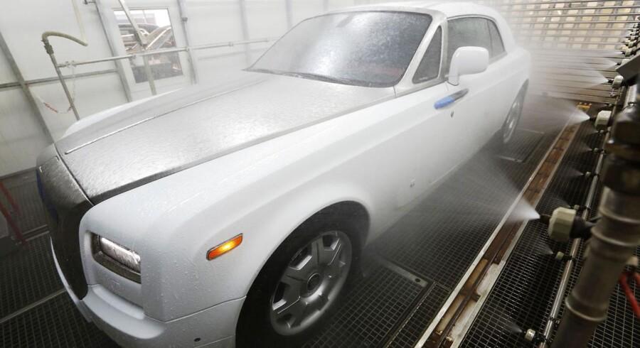 Rolls Royce er et af Storbritanniens noble bilmærker - selv om fabrikken længe har været ejet af tyske BMW.