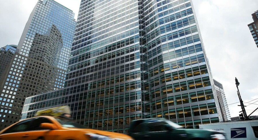 Goldman Sachs Manhattan headquarters are viewed on January 16, 2015 in New York City.