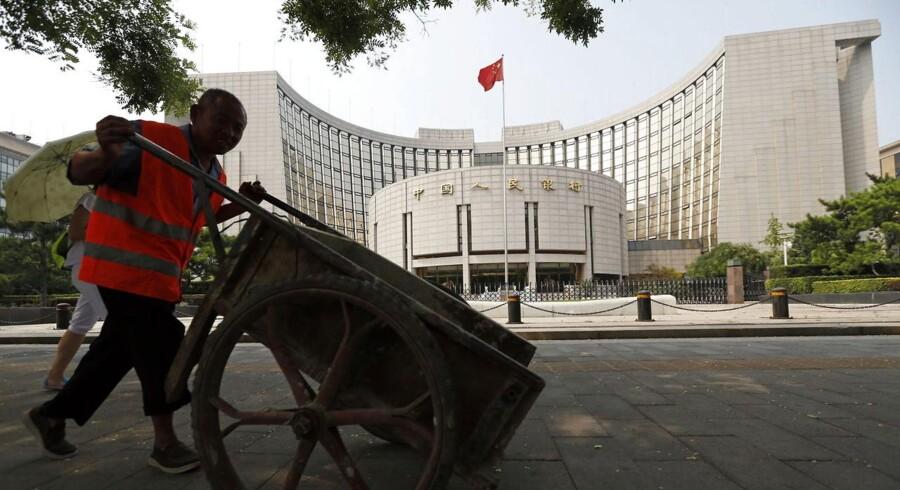Den kinesiske centralbank, Peoples Bank of China (PBoC), har indskudt det største beløb i det finansielle system gennem åbne markedsoperationer siden januar 2014.