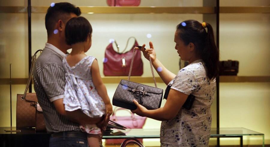 Kinesere har fået smag for lukusvare, som eksempelvis Gucci-tasker.