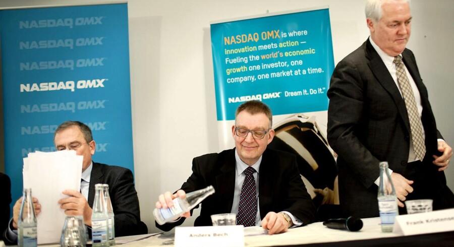 Carsten Andersen (til venstre) bliver formand for den fælles bank, mens Frank Kristensen (til højre) bliver direktør.