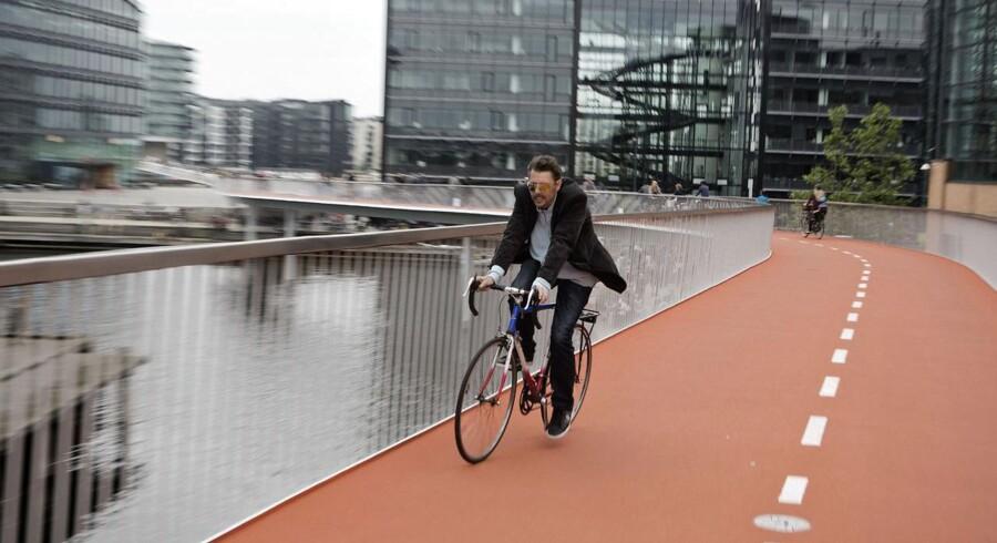 Cykelslangen forbinder Dybbølsbro og Havneholmen.