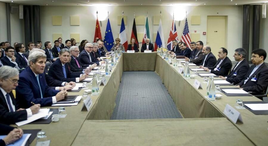 Maratonforhandlingerne med Iran på Beau Rivage Palace Hotel i Lausanne i Schweiz