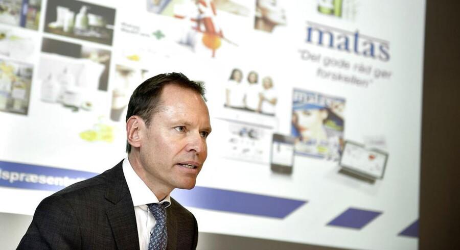 Administrerende direktør, Terje List, præsenterer et Matas i fin form ved selskabets fremlæggelse af halvårsregnskab.