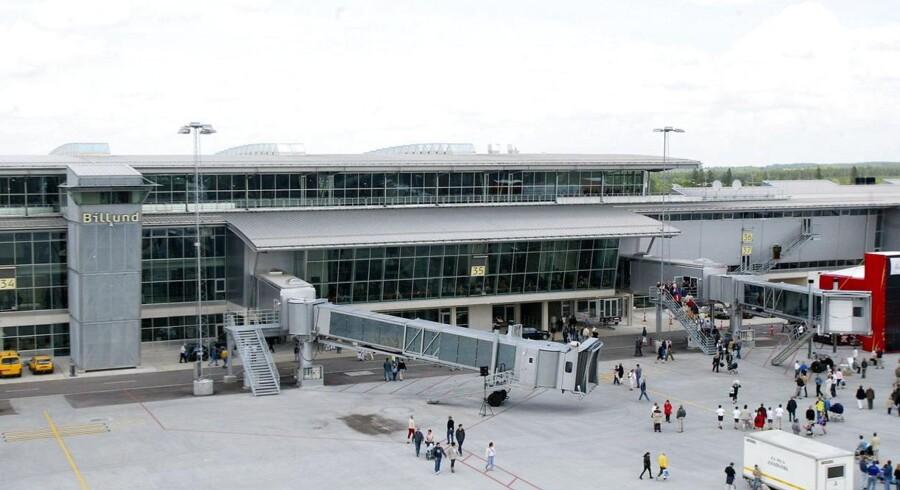 Arkivfoto. Billund Lufthavn oplevede som den eneste af tre jyske lufthavne en minimal fremgang i passagertal. Cimber Sterlings krak i maj 2012 trak alle tre lufthavnes indenrigstrafik voldsomt ned.
