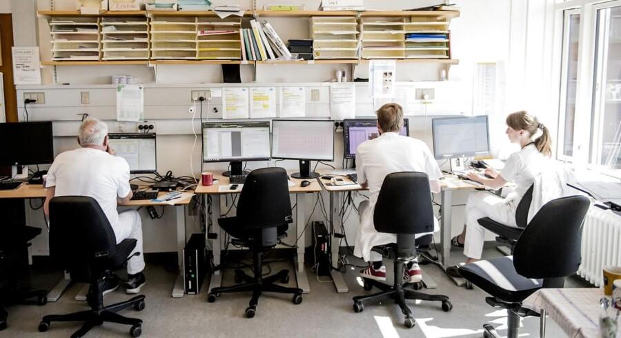Sundhedsplatformen skulle effektivisere arbejdet inden for sundhedsområdet, men brugerne oplever, at det virker stik modsat hensigten. Foto: Asger Ladefoged