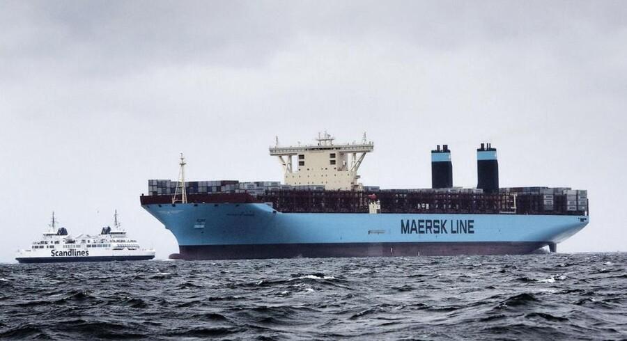 Mærsks nye containerskib, Majestic Maersk, som er verdens største