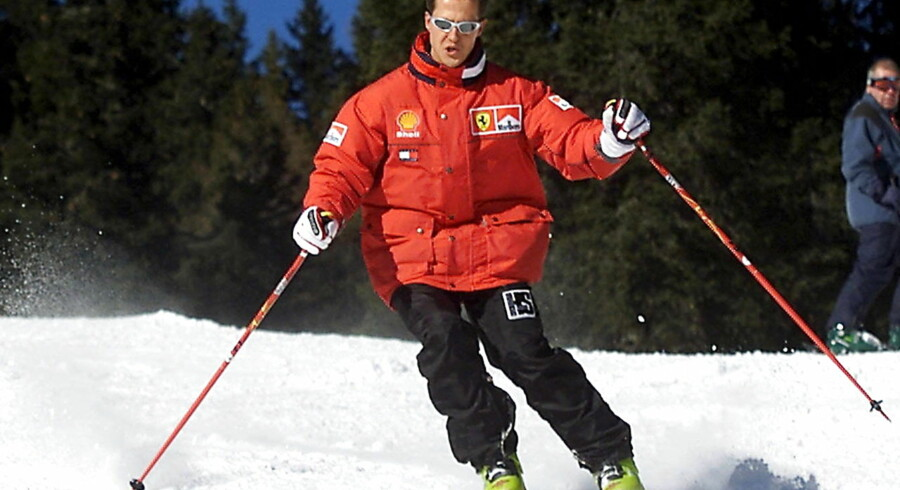 epa04260528 (FILE) A file picture dated 11 January 2000 shows German the Formula One Ferrari driver Michael Schumacher carving a turn while skiing at the Italian resort of Madonna di Campiglio, Italy. Formula 1 racer Michael Schumacher is no longer in a coma, it was reported 16 June 2014 by his manager Sabine Kehm, six and a half months after he suffered a serious skiing injury. Reports also state he has left the Grenoble hospital he was staying in. EPA/ERCOLE COLOMBO