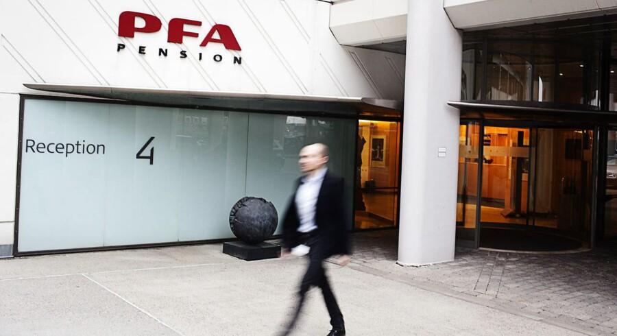 PFA Pensions hovedsæde ved Nordhavn i København.