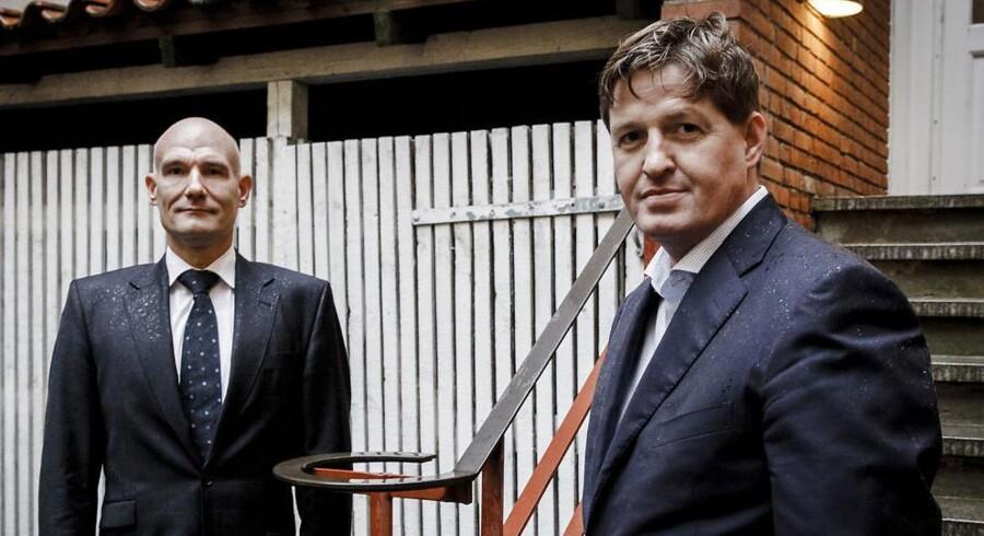 Michael Buchholz og Jan Leth Christensen er to af de tre stiftere af mikroforsikringsagenturet GNFF.