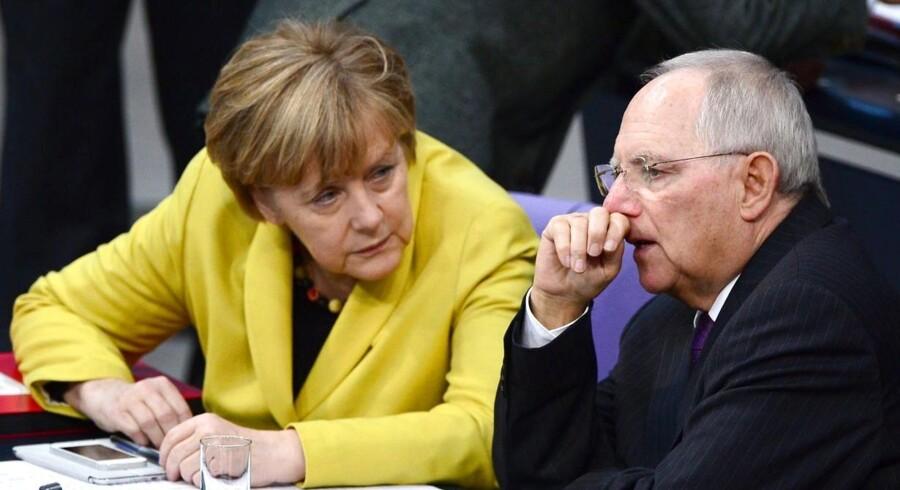 Arkivfoto. Tysklands kansler Angela Merkel er ifølge Maltas finansminister klar til at lade grækerne forlade eurosamarbejdet.