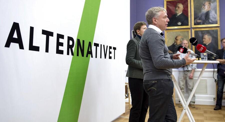Uffe Elbæk starter et nyt parti Alternativet sammen med Josephine Fock.