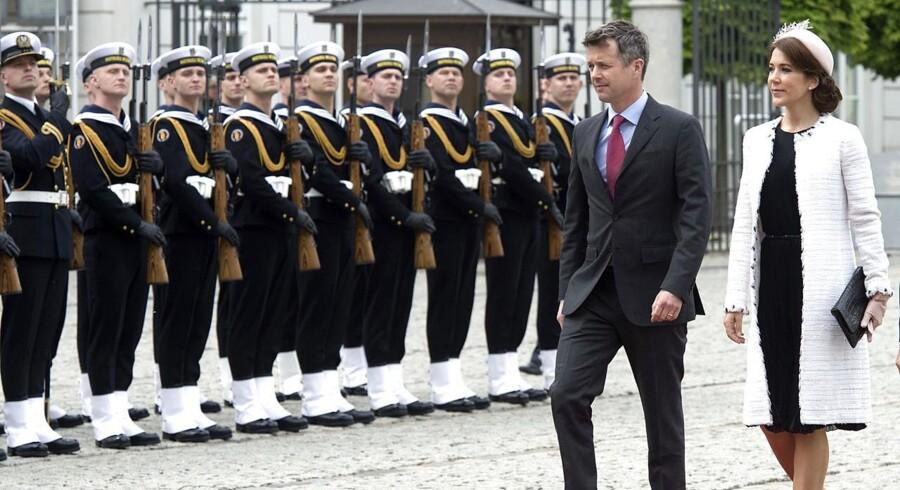 Officiel modtagelse af kronprinsparret i præsidentpaladset i Warszawa d.12.maj 2014. (Foto: Keld Navntoft/Scanpix 2014)