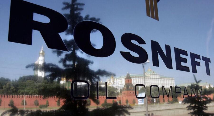 Det statsejede olieselskab Rosneft, hvis hovedkvarter ligger med udsigt til Kreml i Moskva er nu den største olieproducent i verden. Arkivfoto.